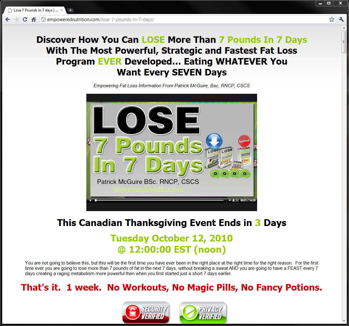 how to lose 7 pounds in 7 days