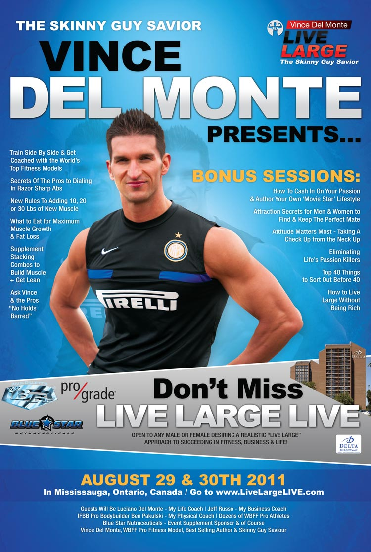 Join me and Vince Delmonte at Live Large LIVE