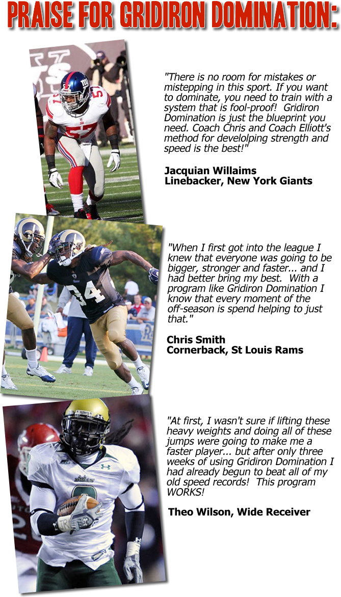 Gridiron Dominance - Be a BEAST on the and off the Football Field http://encoaches.footballss.hop.clickbank.net/